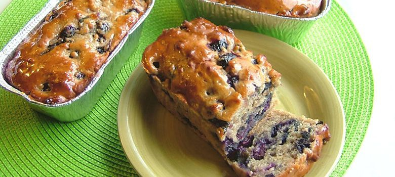 Smashed Blueberry Bread